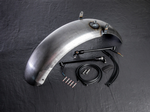 Bobber 1200 Motorbike fender 'raw' for rear wheel incl. indicator/taillight combination.